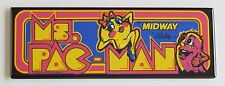 Ms. Pac Man Marquee FRIDGE MAGNET (1.5 x 4.5 inches) arcade video game pacman