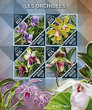 Niger 2015 MNH Orchids 4v M/S Flowers Flora Catlleya forbesii Disa purpurascens