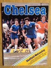 Chelsea v Sheffield Wednesday 1980/81 programme