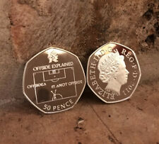 Olympic Football OFFSIDE RULE 50P COIN SOUVENIR  ( PLEASE READ ) Kew Gardens New