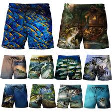 New 3D Fishs Graphic Printing Men Women Summer Beach Sport Casual Shorts Pants