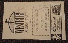 "1966 Westbury New York Music Fair ""Oliver"" autographs Bernice Massi"
