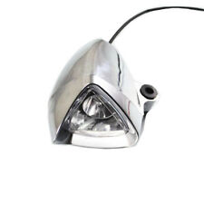 Motorcycle 12V Chrome Headlight Spot Light Scooter Offroad Cafe Racer Touring