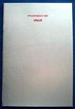 Prospekt brochure Porsche 968 (D, 1992)