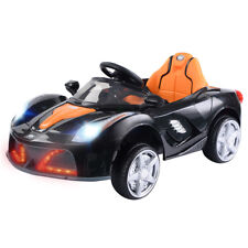 12V Battery Powered Kids Ride On Car RC Remote Control LED Lights Christmas Gift