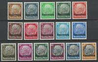 1940 German Occupation Luxembourg Michel Number 1-16 Mint Postage Stamps