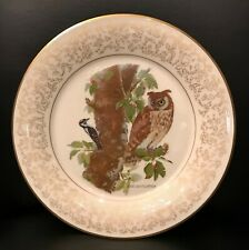 Long Eared Owl Decorative Gorham Plate by Don Whitlatch