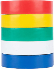 New listing Vinyl Electrical Wire Tape 5 Colors Pack Set 7 mil Red White Blue Green Yellow