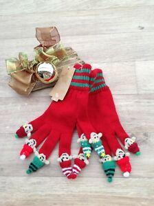 Mens Christmas GLOVES ELF on each finger - BNWT £8