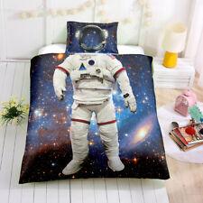 3D Space Astronaut Kids Bedding Set Duvet Cover Quilt/Comforter Cover Pillowcase