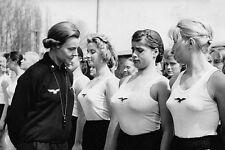 """WWII Photo German Girls Athletic Club  5"""" x 7""""  WW2 B&W World War Two / 2220E"""