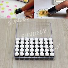 40pcs Finger Sponge Daubers Paint Ink Pad Stamping Brush Craft With Storage Box