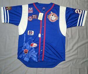 Vintage 90s Medallion Negro League NLBM Baseball Patch Jersey Men's XL w/Tags