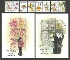 More details for grenada 1997 flowers orchids insects bees butterflies set including 2 sheets mnh