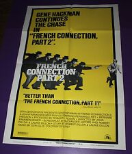 FRENCH CONNECTION PART 2 MOVIE POSTER ORIG ONE SHEET GENE HACKMAN
