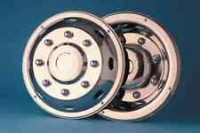 """set of 4 22.5"""" stainless steel DAF Truck Bus Coach wheel trims antitheft fixing"""