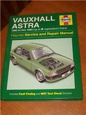 Vauxhall Astra 1980 - Oct 84 Up to B reg Haynes Manual