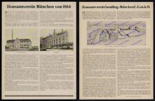 München Konsumverein Haidhausen Bäckerei Brotfabrik Magazin Lastwagen Lkw 1927