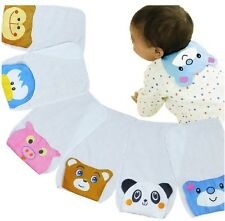 4pcs Cute style Cotton Baby Sweat Absorbent Towel Back Perspiration Wipes Cloth