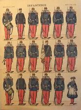 Imagerie Pellerin d'Epinal INFANTERIE  N°63 primi 900 Soldatini di Carta