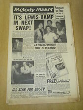 MELODY MAKER 1956 JULY 7 VIC LEWIS LIONEL HAMPTON PINEWOOD STUDIOS JAZZ JAMBOREE