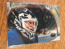 PINNACLE HOCKEY 1996 FELIX POTVIN MCDONALD'S CAGED ICEBREAKERS 3D CARD LEAFS