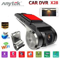 Anytek X28 HD 1080P Cámaras Para Coche DVR WiFi GPS Navi ADAS G-Sensor Dash Cam