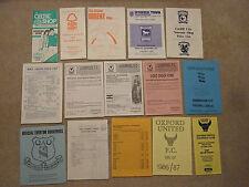 official club shop souvenir list ipswich town august 1985