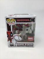 Funko Pop! Rides - Deadpool On Unicorn #36 - Marvel Collector Corps Exclusive