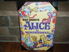 WALT DISNEY ALICE IN WONDERLAND MOVIE POSTER WOOD WALL PLAQUE 13