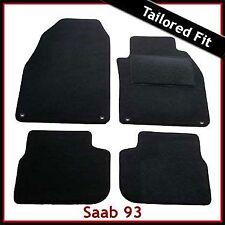 SAAB 9-3 93 Mk2 2002-2012 Tailored Carpet Car Floor Mats BLACK