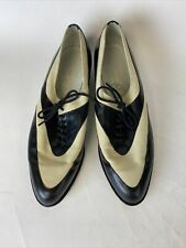 Vintage Robert Clergerie Cream And Black Shoes 7.5