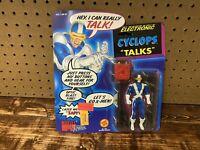 Vintage Marvel Super Heros Electronic Cyclops Talks Action Figure 1991