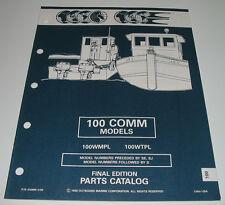 Parts Catalog Outboard Marine Evinrude Johnson 100 COMM Models WTPL WTPX 1992!