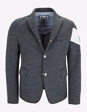 New Moncler Gamme Bleu Grey Wool Blazer Style Down Jacket Size 1 RRP £1415 BNWT