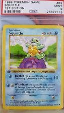 PSA 9 - 1st Edition Squirtle - Pokemon Base Set 1999 - 63/102 - MINT Shadowless