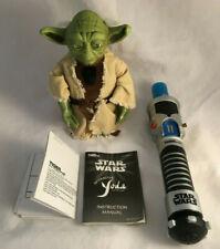 "Star Wars Interactive Yoda 7"" & Lightsaber Opened & Tested Hasbro 2000"