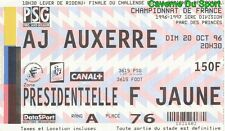 TICKET MATCH PARIS SAINT-GERMAIN PSG s AJ.AUXERRE D1 1996-1997 # 20-10-1996