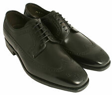 Gentlemans' Lace Up Derby Shoes Barker Russell Black UK Size 7.5 G Fitting