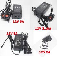 Power Supply Adapter AC To DC 12V 2A 3A 5A 8A CCTV CAMERA  LED STRIP Branded CE