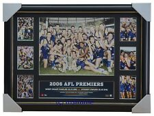 2006 AFL Premiers Official AFL West Coast Eagles Montage Print Framed Chris Judd