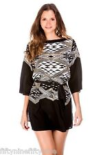 NEW GOTTEX SILK KAFTAN / COVER UP / TUNIC TOP    Size Large