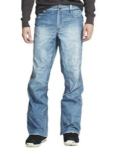 Burton THE JEANS Gore-Tex Snowboard Pants Ski Denim Distressed Size L