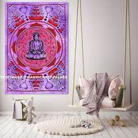 Indian Meditation Buddha Tapestry Wall Hanging Mandala Cotton Poster Decor Boho