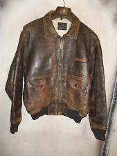 VINTAGE USAAF ISSUE AVIREX G-2 LEATHER FLYING JACKET SIZE L