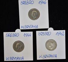 1942-1946 Georgivs VI - Lot of 3 United Kingdom Coins - Silver - Fine Condition