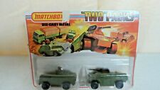 "1975 Matchbox ""Two"" Packs TP-13 Military Scout and Armoured Car on Original Card"