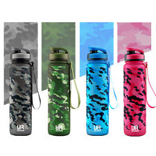 UR 32oz / 1 Litre Water Bottle with Time Marker, BPA Free, Non-Toxic, Outdoor