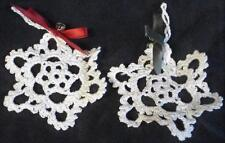 Vintage Hand Made Crocheted Snowflake Ornaments - VGC - VERY PRETTY, CLASSIC