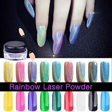 1g Holographic Laser Rainbow Shinning Mirror Nail Glitter Powder Nails Pigments